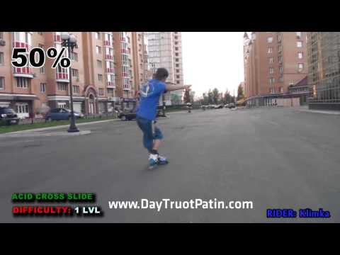 Slide Trick - Kỹ thuật trượt patin phanh Acid Cross Slide - www.DayTruotPatin.com