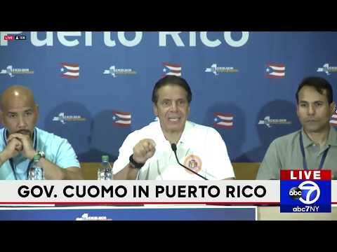 Gov. Cuomo gives press briefing in Puerto Rico