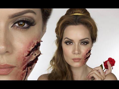 beauty and the beast disney belle makeup fancy dress halloween sfx shonagh scott youtube
