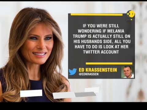 Melania Trump follows husband's nemesis on Twitter