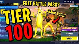 BUYING A RANDOM PERSON TIER 100 SEASON 8 BATTLE PASS IN FORTNITE