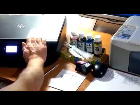 Как снять защиту принтера HP5000  и обнулить картридж HP 652