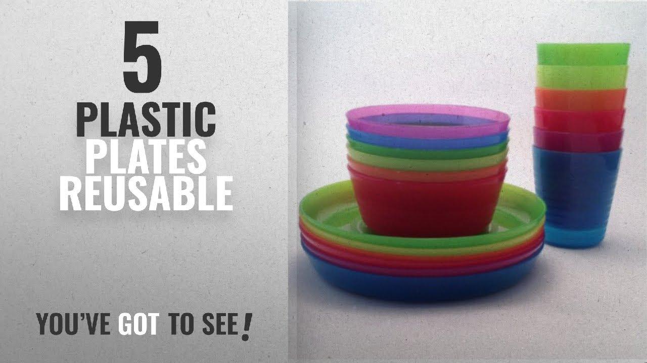 Best Plastic Plates Reusable 2018 Ikea Kalas Children Color Bowl Tumbler And Plate Sets X6