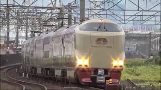 【大幅遅延】寝台特急サンライズExp.(回送)&貨物列車50レ(スーパーレールカーゴ) 真昼の中京圏を通過