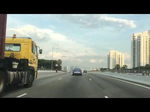Driving from Changi Airport Singapore to NUS along  ECP, MCE and  AYE