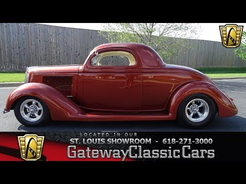 1936 Ford 3 Window Coupe Stock #7692 Gateway Classic Car St. Louis Showroom