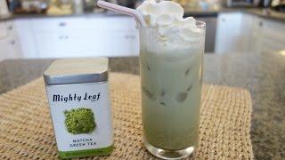 Iced Green Tea Latte!