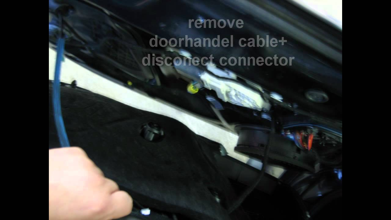 Doorpannel Remove Audi A4 B8 Youtube