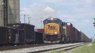 3 CSX SD70MAC leaders plus a bonus BNSF