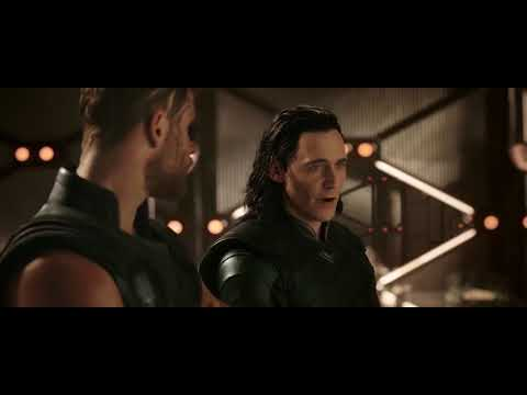 Thanos Ship Arrival.Thor Ragnarok. End Credit Scene