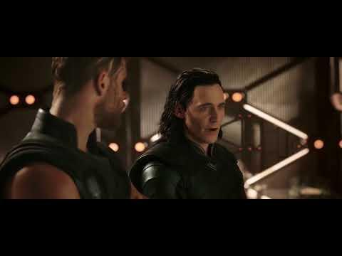 Thanos Ship Arrival.Thor Ragnarok. End Credit Scene