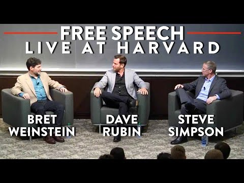 LIVE at Harvard: Dave Rubin, Bret Weinstein, Steve Simpson on Free Speech in America