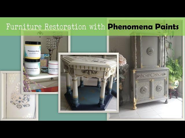 Phenomena Paints texturing | 3d stencil powder | create raised stencil on spice rack P1-Ep3