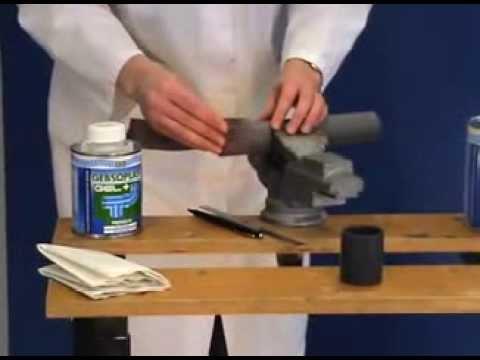 ПВХ трубы и фитинги: клеевое соединение монтаж