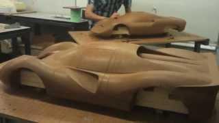 Maquettes automobiles en clay en 2e année Design Transport à CREAPOLE
