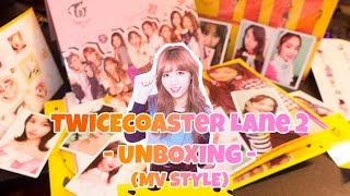 twice special album unboxing mv style   twicecoaster lane 2 versions a b with poster and card