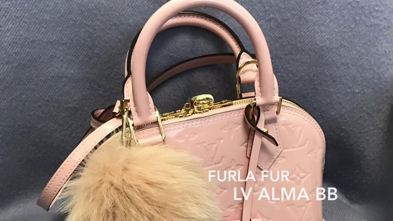 779069ef8 Louis Vuitton baby pink Alma BB 💕+ Furla Fur 💋 - YouTube