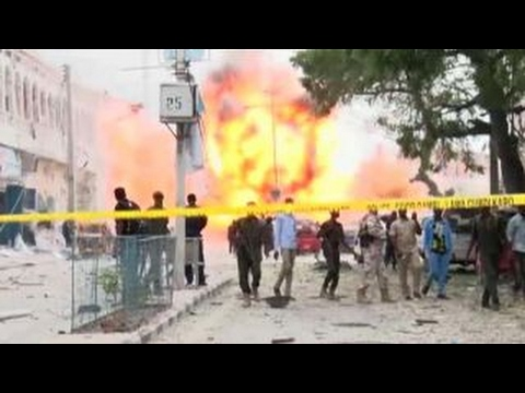 Huge explosion caught on camera during deadly terror attack