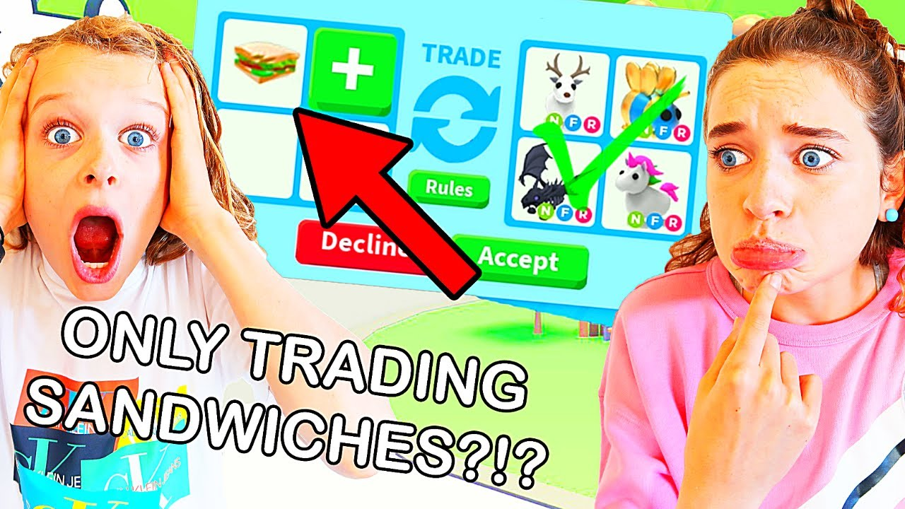 ONLY TRADING SANDWICHES IN ADOPT ME *most trades wins* Roblox Gaming w/ The Norris Nuts