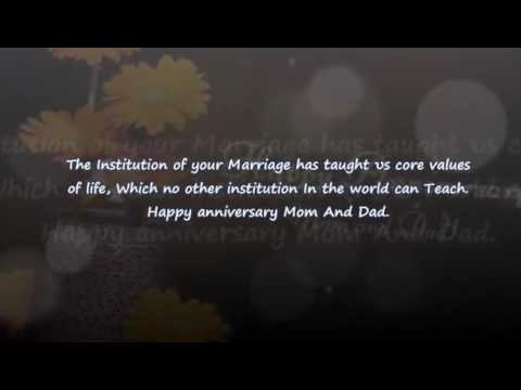 Parents wedding anniversary wishes youtube