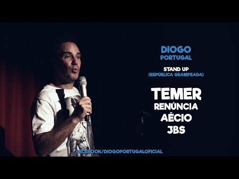 Diogo Portugal - Stand up República Grampeada / TEMER / RENÚNCIA / AÉCIO / JBS