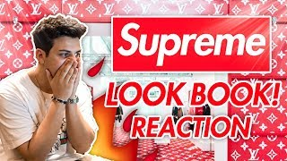 REACTING TO SUPREME SS19 LOOKBOOK (FIRST ON YOUTUBE)