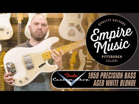 Fender Custom Shop 1959 Precision BassAged White Blonde    EMPIRE MUSIC