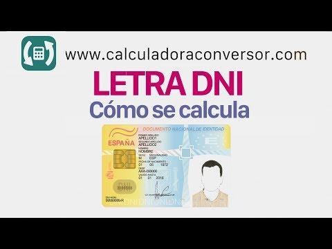 Cómo calcular letra DNI / NIF con la fórmula