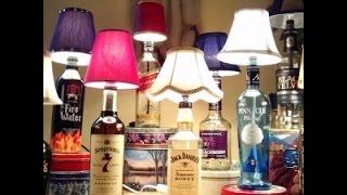Сделать настольную лампу своими руками(Как сделать настольную лампу. Если у вас есть стеклянная бутылка из-под ликера или вина, то вы можете сделат..., 2014-08-03T14:03:35.000Z)