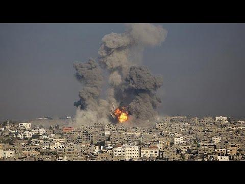 Violent bombardements à Gaza : environ 1200 palestiniens tués
