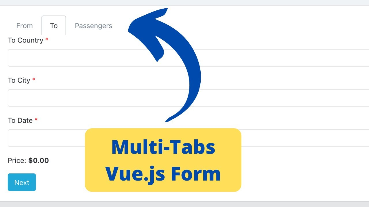 Vue.js Form with Tabs: Navigation and Validation