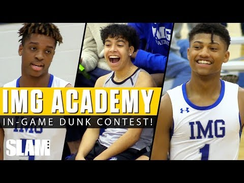 Noah Farrakhan & IMG Have In-Game Dunk Contest! 🚀😤