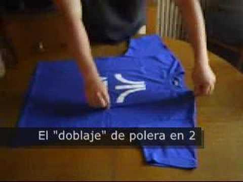 C mo doblar una camisa in 5 segundos doovi - Como doblar una camisa ...