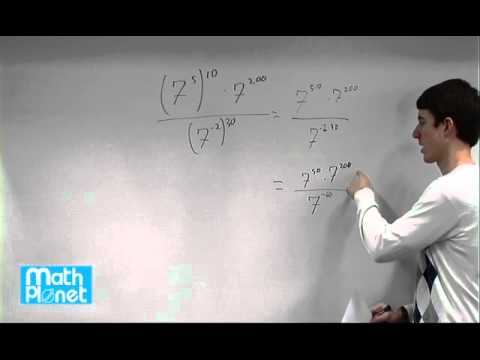 Properties of exponents (Algebra 1, Exponents and exponential