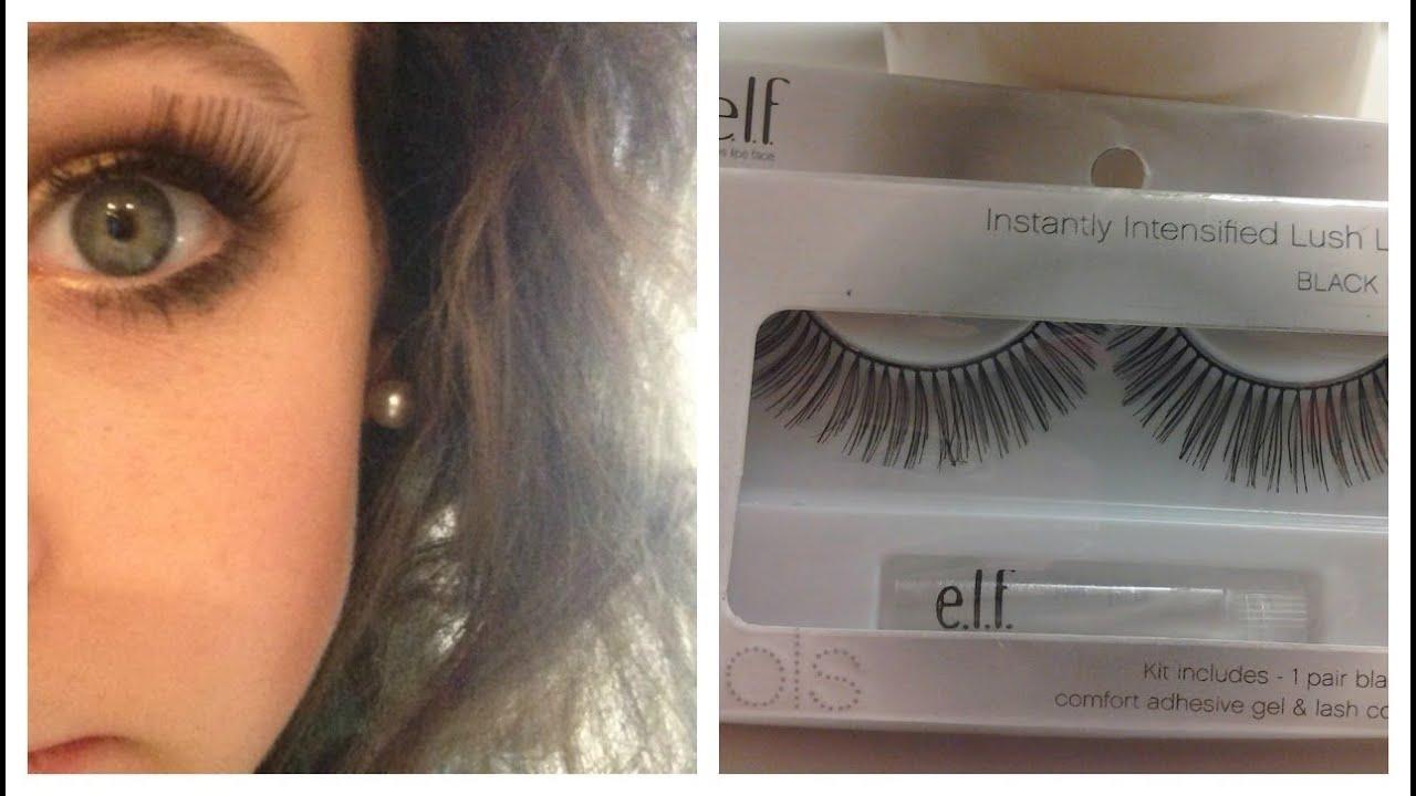 Elf Cosmetics Eyelashes Review - YouTube