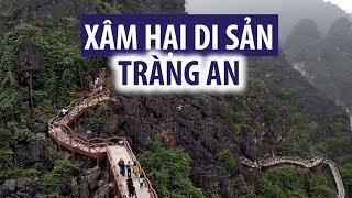 Cận cảnh cây cầu khổng lồ xâm hại Tràng An - di sản thế giới