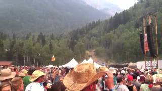 Yonder Mountain Marshmallow War! Telluride Bluegrass Festival 2012