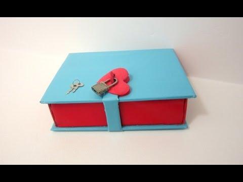 "How to make a Book Box with  a Lock | ""Lock UR Secrets in a Book"""