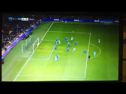 Man City - Everton 3-1 Aguero amazing goal