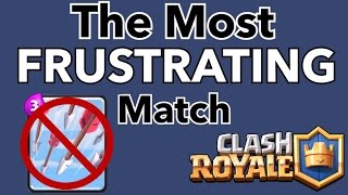 Clash Royale: The Most Frustrating/Craziest Battle EVER!