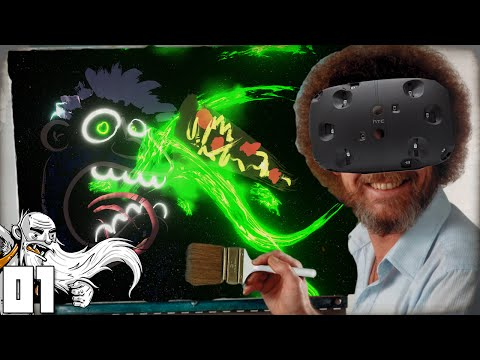 """HTC VIVE! VIRTUAL REALITY BOB ROSS!!!"" Generikb Paints Your Tweets In Virtual Reality Ep 01"