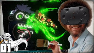 """""""HTC VIVE! VIRTUAL REALITY BOB ROSS!!!"""" Generikb Paints Your Tweets In Virtual Reality Ep 01"""