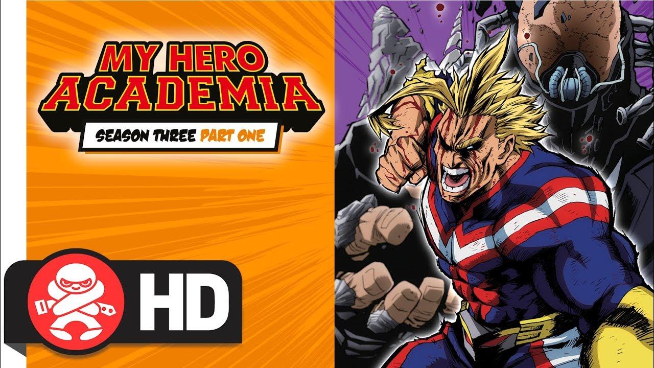 My Hero Academia - Season 3 Part 1 DVD / Blu-Ray Combo