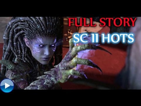 Starcraft 2: Heart of the Swarm Full Storyline - All Cinematics, Cutscenes and Edited Gameplay