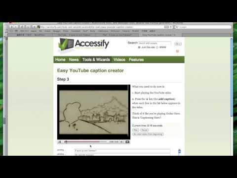 YouTube字幕教學:Accessify的線上字幕機