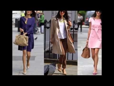 "Style of ""Amal Alamuddin"" Wife of George Clooney"