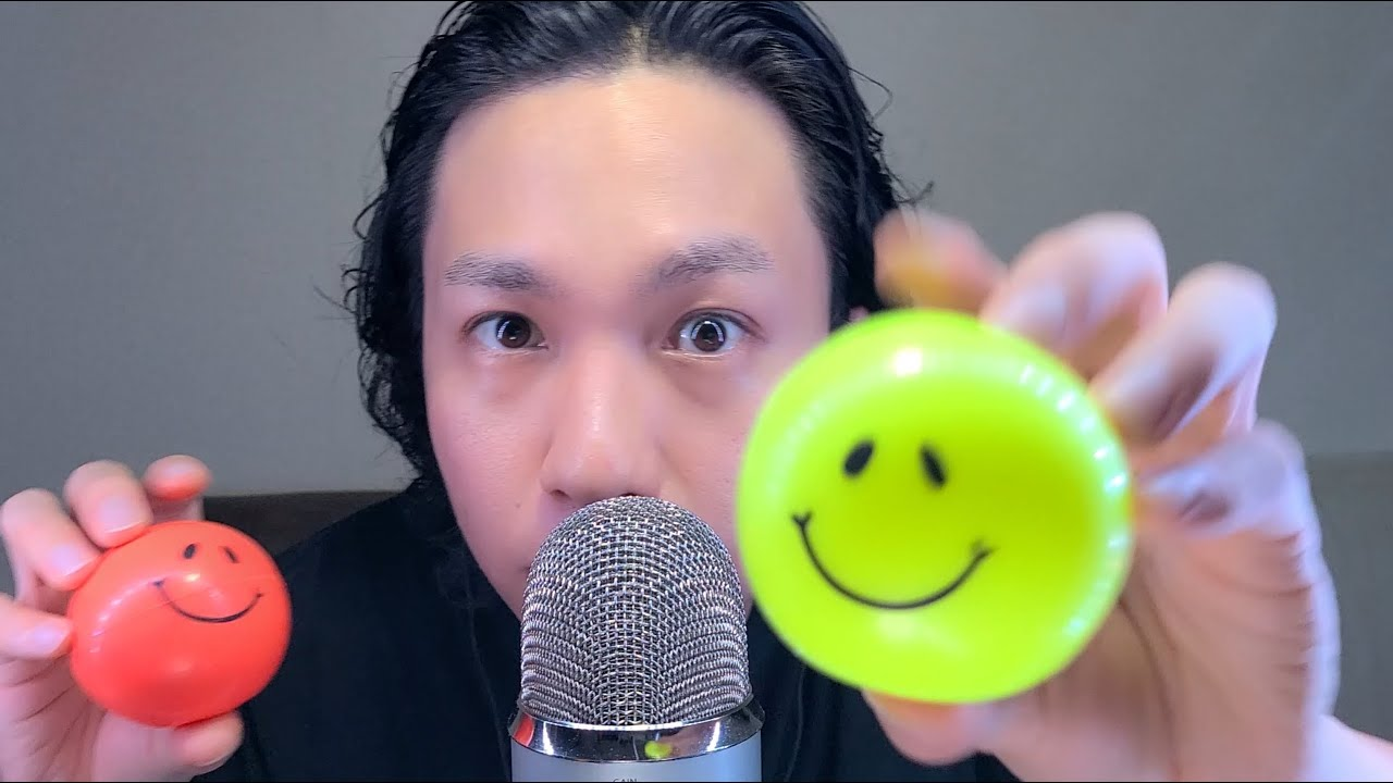 ASMR Mouth sounds with Ball Tapping ニコニコボールやね☺️🎵