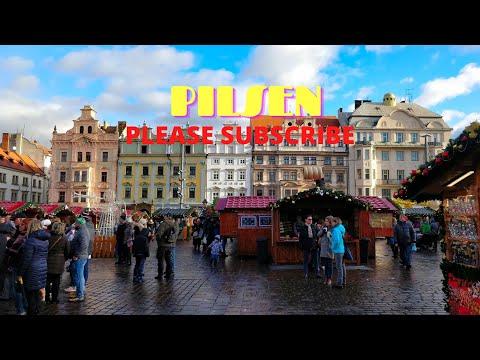 walking in pilsen czech republic 4k. 60fps trip