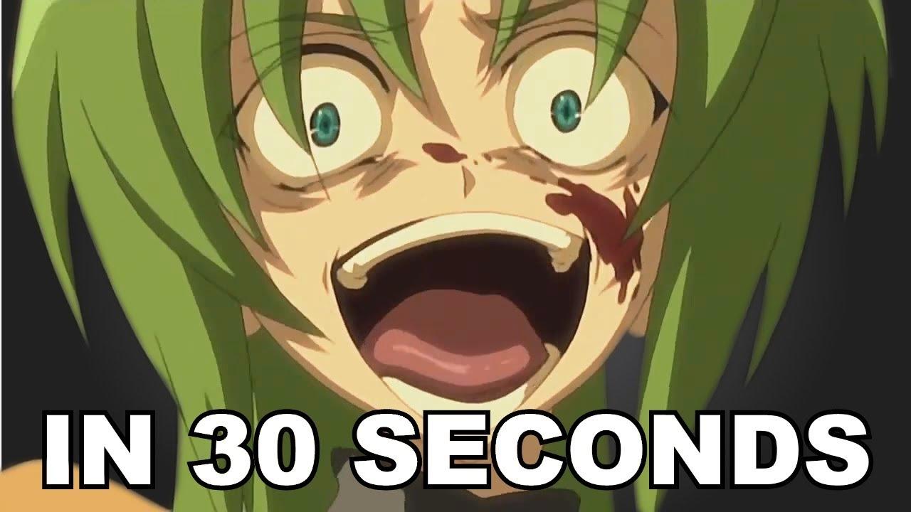 Higurashi No Naku Koro Ni In 30 Seconds Youtube