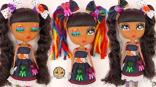 Candi Cutie Pops Rainbow Eyes Pop On Lollipop Sweet Style Doll - Toy Review Video Cookieswirlc